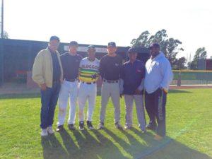 Left to right: Warren Brusstar, Erik Underwood, Anthony Williams, Clayton Voechting, Mike Samuels, Lonnie Jackson